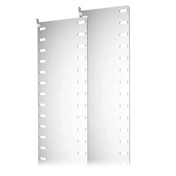 Seitenwand aus klarem Plexiglas 50 × 30 cm von String im 2er-Set