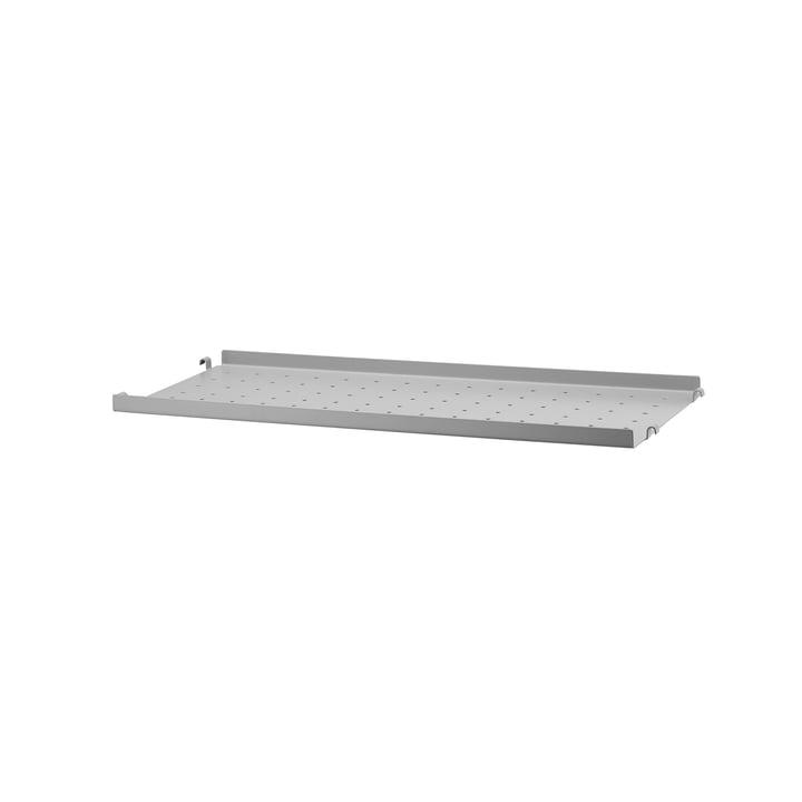 Metallboden mit niedriger Kante 58 x 20 cm von String in Grau