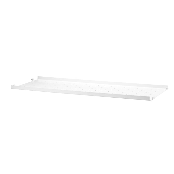 Metallboden mit niedriger Kante 78 x 20 cm von String in Weiß