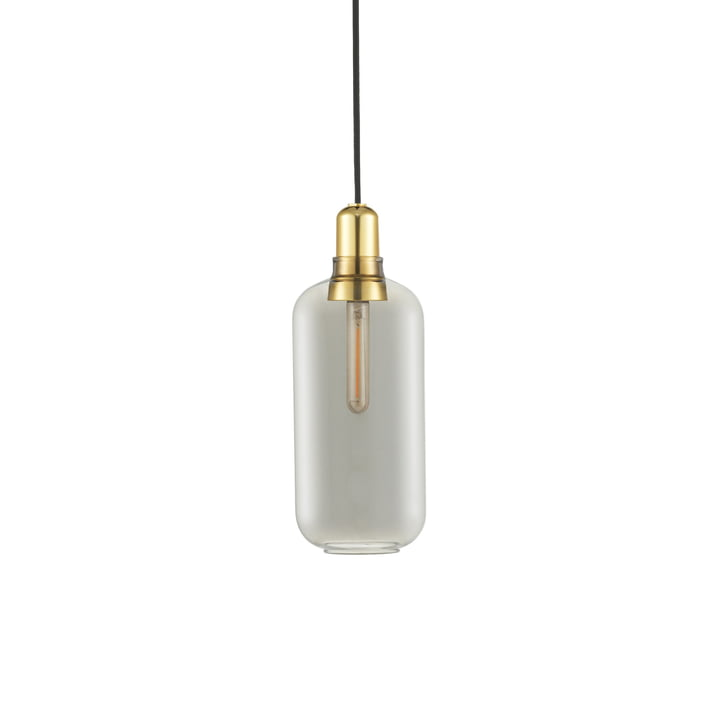 Die Normann Copenhagen - Amp Pendelleuchte large, smoke / messing