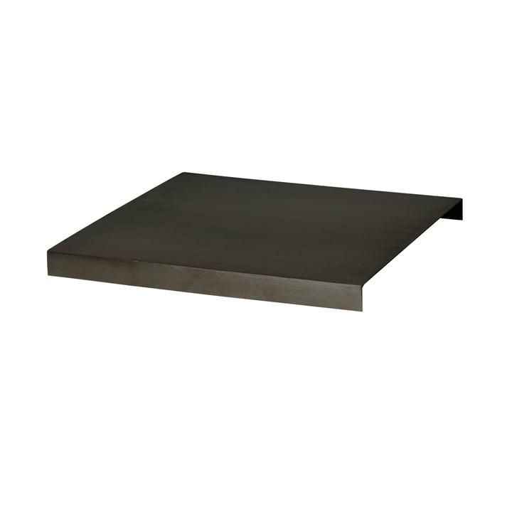 ferm Living - Tablett für Plant Box, Messing schwarz brüniert