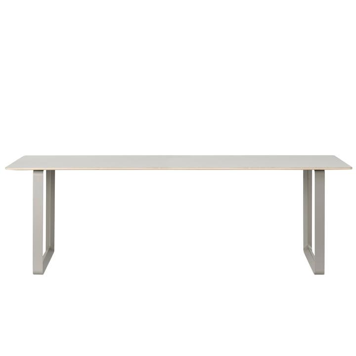 70/70 Esstisch 225 x 90 cm von Muuto in grau (Linoleum)