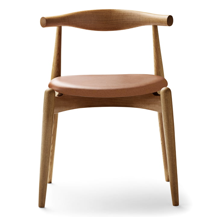 Der Carl Hansen - CH20 Elbow Chair, Eiche geölt / Leder Sif 95