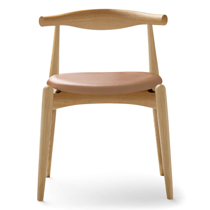 Carl Hansen - CH20 Elbow Chair, Eiche geseift / Leder Thor 325