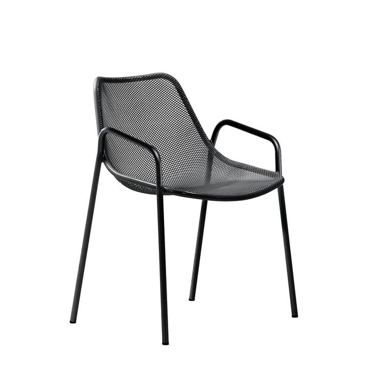 Emu - Round Armlehnstuhl, schwarz
