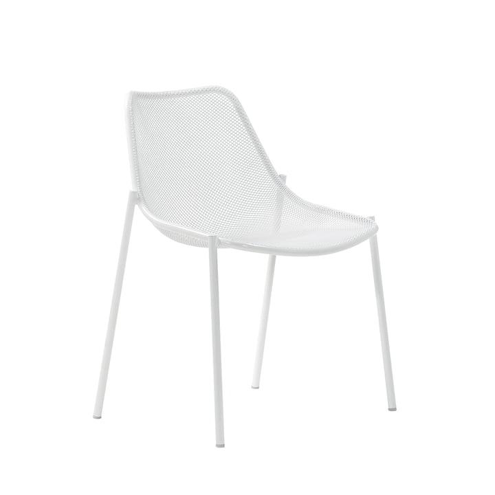 Der Emu - Round Stuhl, weiß