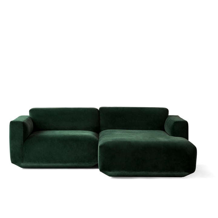 Develius Eck-Sofa Konfiguration B von &Tradition in Velvet 1 (Forest)