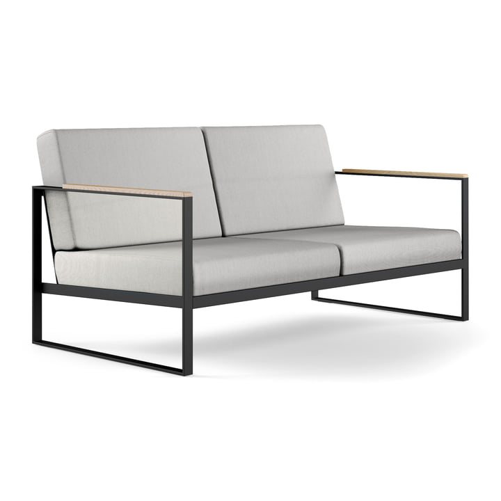 Das Röshults - Garden Easy 2-Sitzer Sofa, anthrazit / nature grey