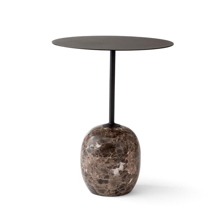Lato Beistelltisch H 50 cm Ø 40 cm von &Tradition in Warm Black / Emparador Marmor