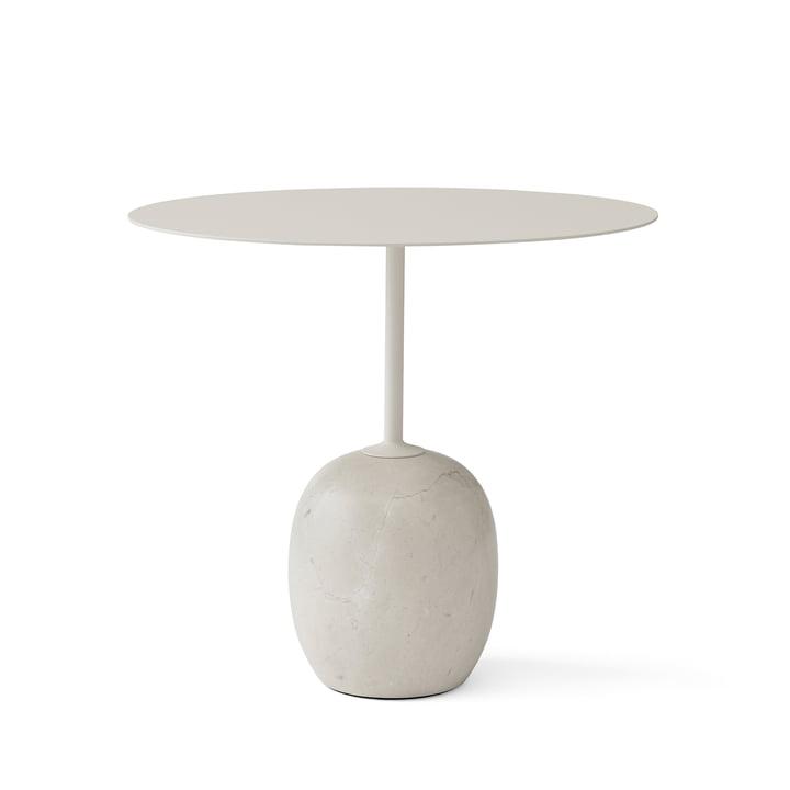 Lato Beistelltisch H 45 cm 40 x 50 cm von &Tradition in Ivory White / Crema Diva Marmor