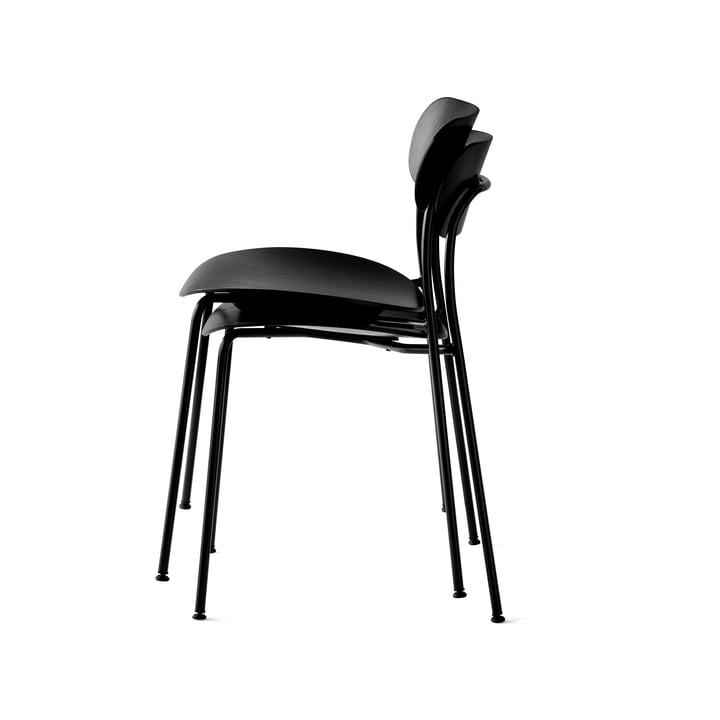Pavilion Stuhl von &Tradition mit Rahmen Schwarz / Eiche Schwarz lackiert