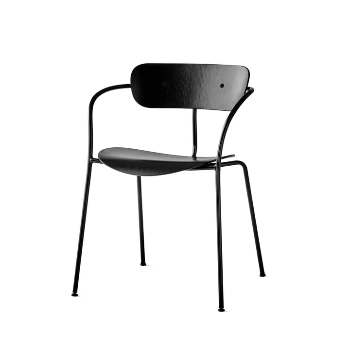 Pavilion Armlehnstuhl von &Tradition mit Rahmen Schwarz / Eiche Schwarz lackiert