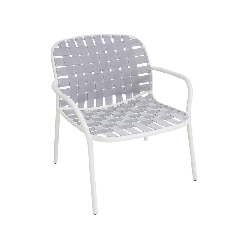 Der Emu - Yard Loungesessel, weiß / grau