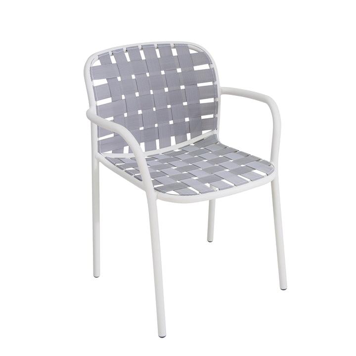 Der Emu - Yard Armlehnstuhl, weiß / grau