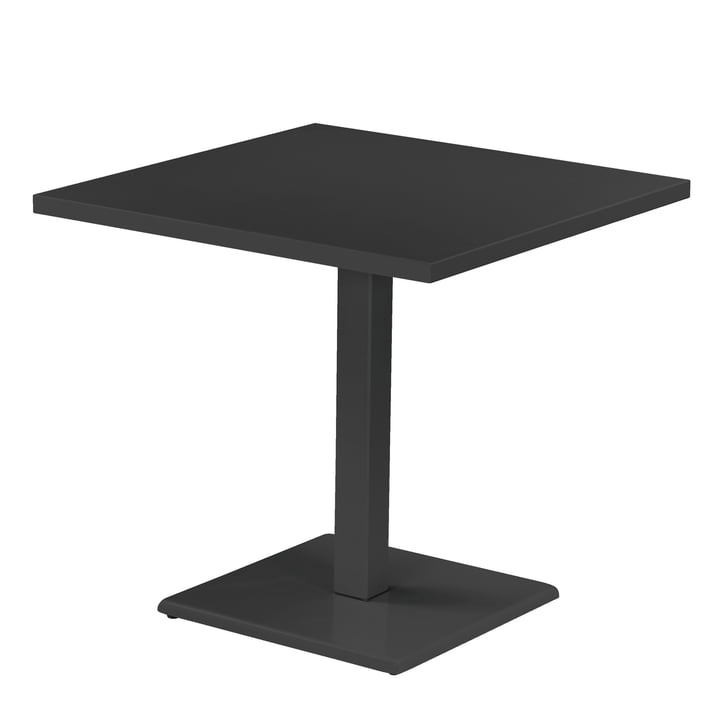 Der Emu - Round Tisch H 75 cm, 80 x 80 cm, antikeisen
