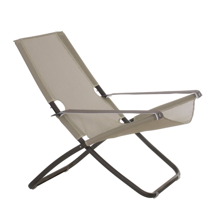 Snooze Liegestuhl von Emu in indischbraun / beige