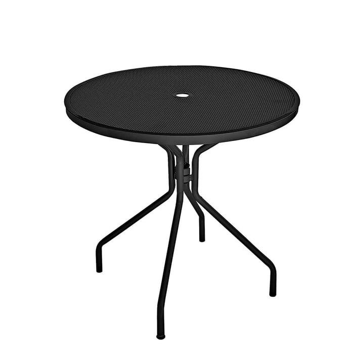 Der Emu - Cambi Tisch, Ø 80 cm / schwarz