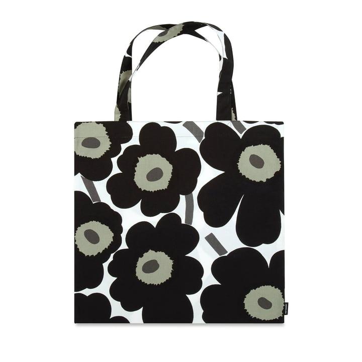 Die Marimekko - Pieni Unikko Einkaufstasche, schwarz / weiß