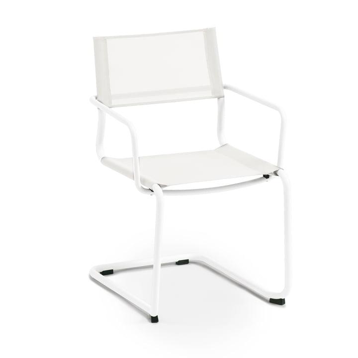 Weishäupl - Sosta Sessel, Edelstahl weiß / Batyline weiß