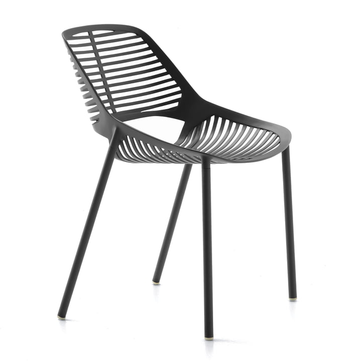 Niwa Stuhl von Fast in Metallgrau