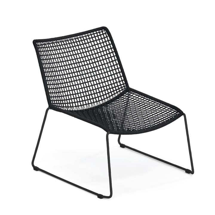 Weishäupl - Slope Lounge Sessel, Edelstahl schwarz / schwarz