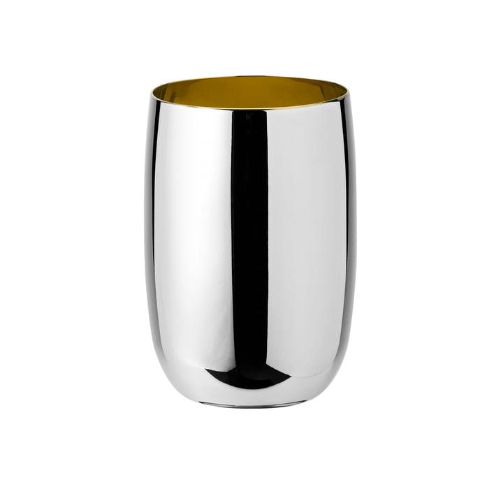 Foster Wasserglas 0,2 l von Stelton in Edelstahl / Gold