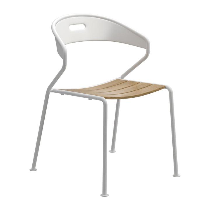 Der Gloster - Curve Stuhl, Teak / weiß