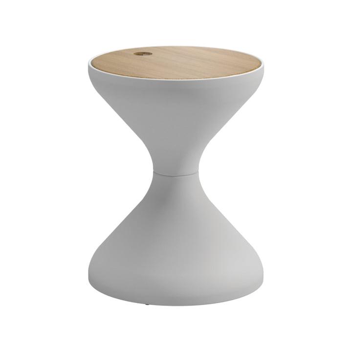 Der Gloster - Bells Beistelltisch, Ø 40 x H 50,5 cm, Teak / weiß