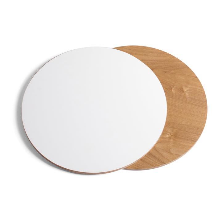 Tischplatte für Ernestin Tisch und Zeitschriftenhalter von Hartô in Weide / Weiß