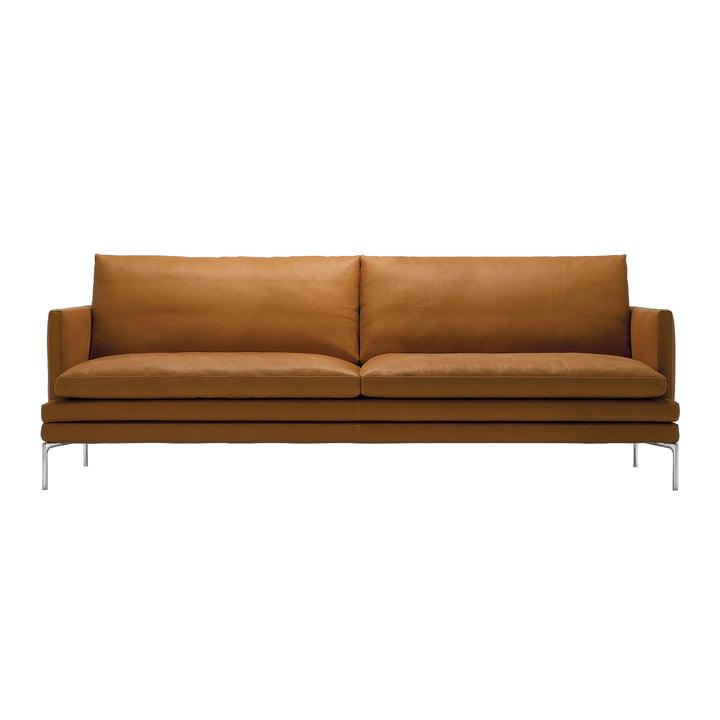 Zanotta Sofa aus Leder in Cognac - 224 cm