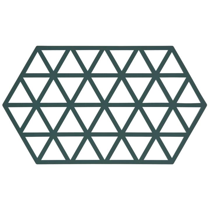 Grafischer Topfuntersetzer Triangle in Dunkelgrün