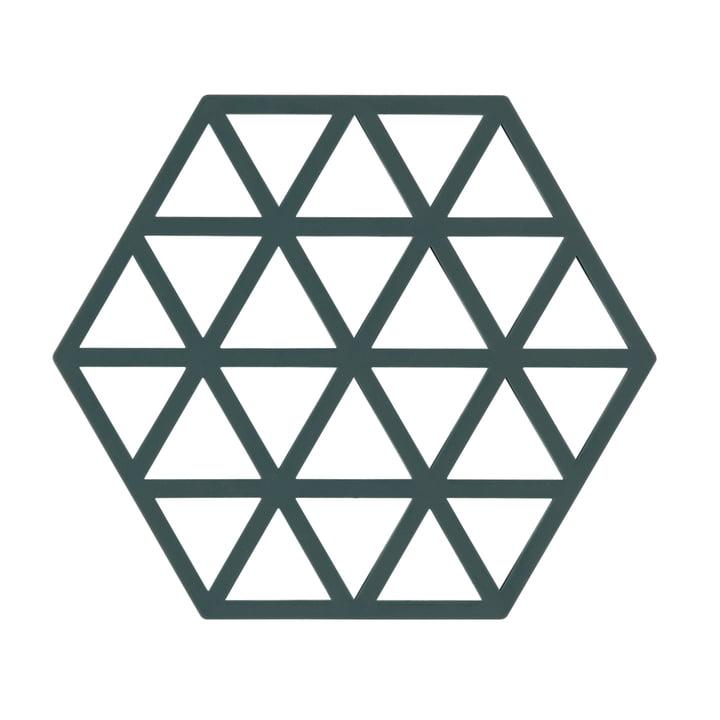 Silikon-Untersetzer Triangle von Zone Denmark in Grün