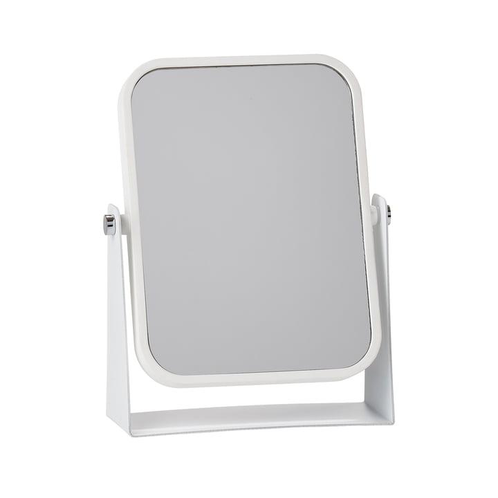 Der Zone Denmark - Tischspiegel mit 2 Spiegelflächen und Vergrößerungseffekt, weiß