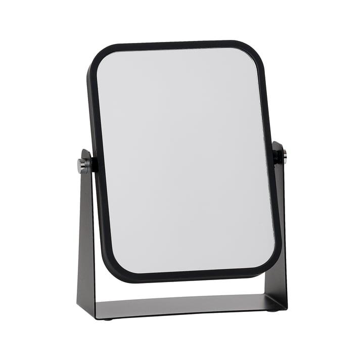 Der Zone Denmark - Tischspiegel mit 2 Spiegelflächen und Vergrößerungseffekt, schwarz