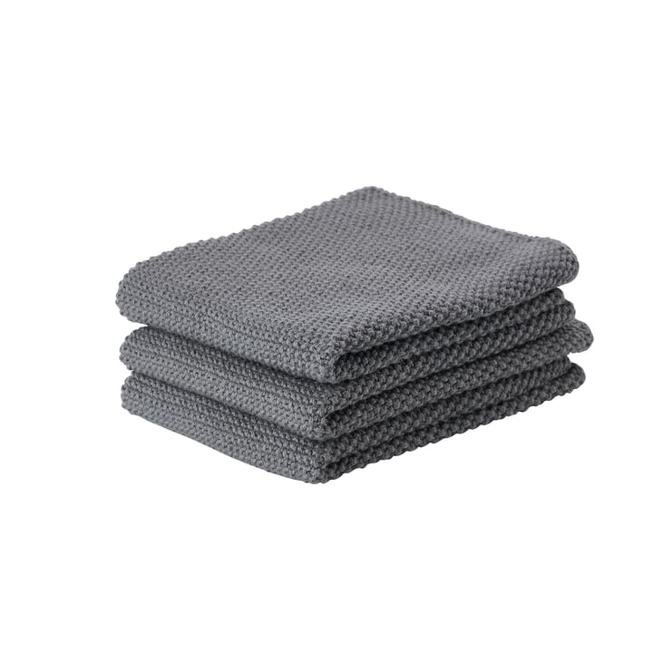 Das Zone Denmark - Reinigungstuch, 27 x 27 cm, cool grey (3er-Set)