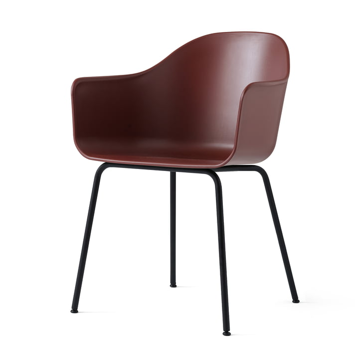Menu - Harbour Chair (Stahl), schwarz / burned red