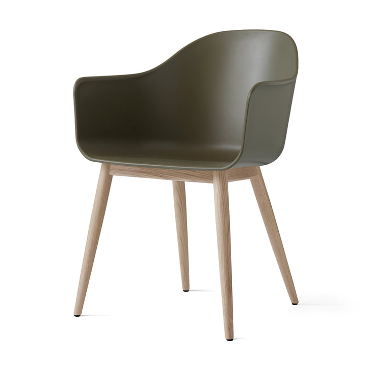 Menu - Harbour Chair (Holz), eiche natur / oliv
