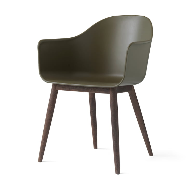 Menu - Harbour Chair (Holz), eiche dunkel / oliv