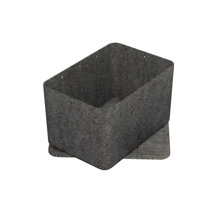 Inos Box mit Tablett, 22,3 x 32,2 cm, H 19 cm von USM Haller in Anthrazit