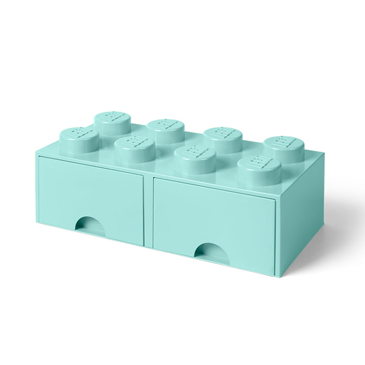 Brick Drawer 8 von Lego in Aqua