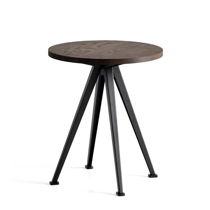 Der Hay - Pyramid Coffee Table 51, Ø 45,5 cm, Eiche geräuchert / schwarz
