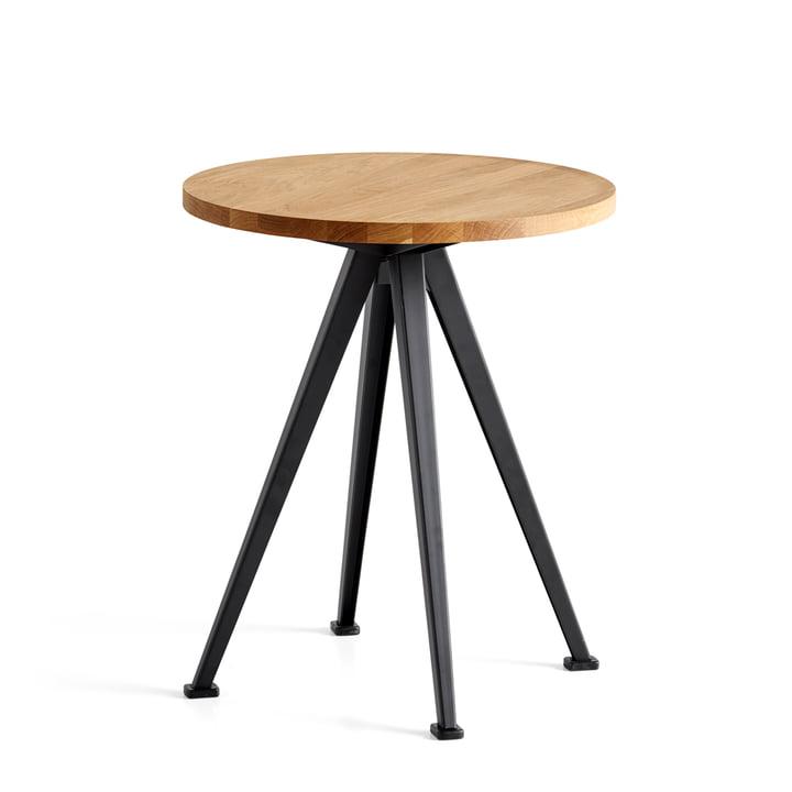 Der Hay - Pyramid Coffee Table 51, Ø 45,5 cm, Eiche matt lackiert / schwarz