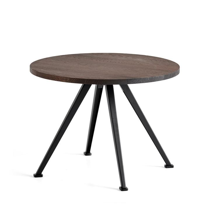 Der Hay - Pyramid Coffee Table 51, Ø 60 cm, Eiche geräuchert / schwarz