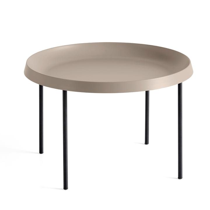 Der Hay - Tulou Beistelltisch, Ø 55 x H 35 cm, mokka / schwarz