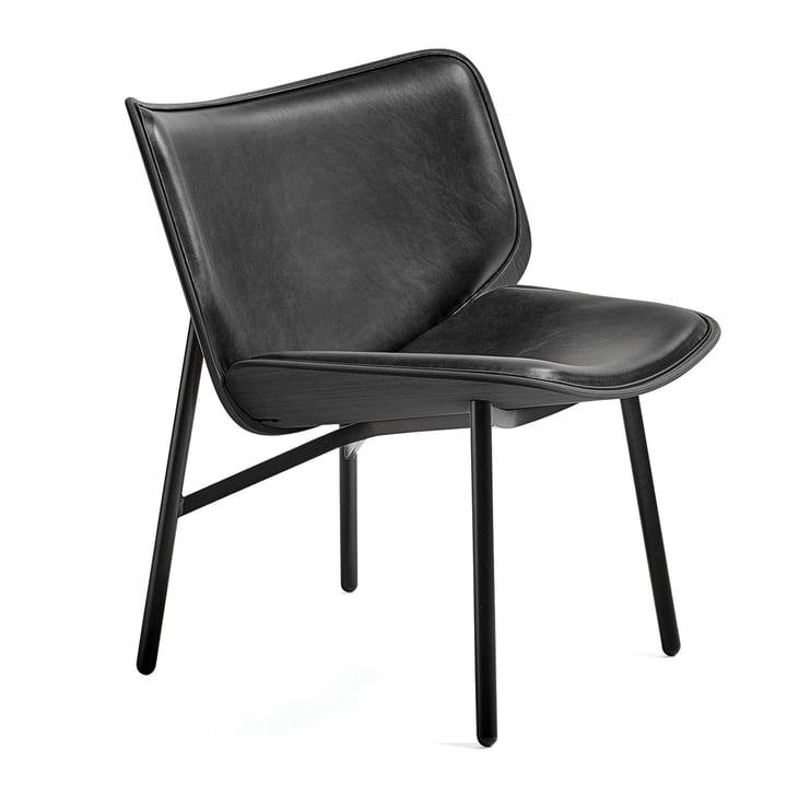 Dapper Lounge Chair von Hay in Silk Leder SIL0842 / Eiche gebeizt / Schwarz