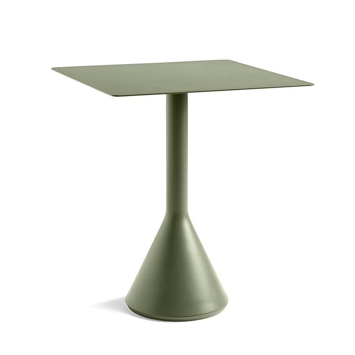 Palissade Cone Bistrotisch 65 x 65 cm, H 74 cm von Hay in Olive