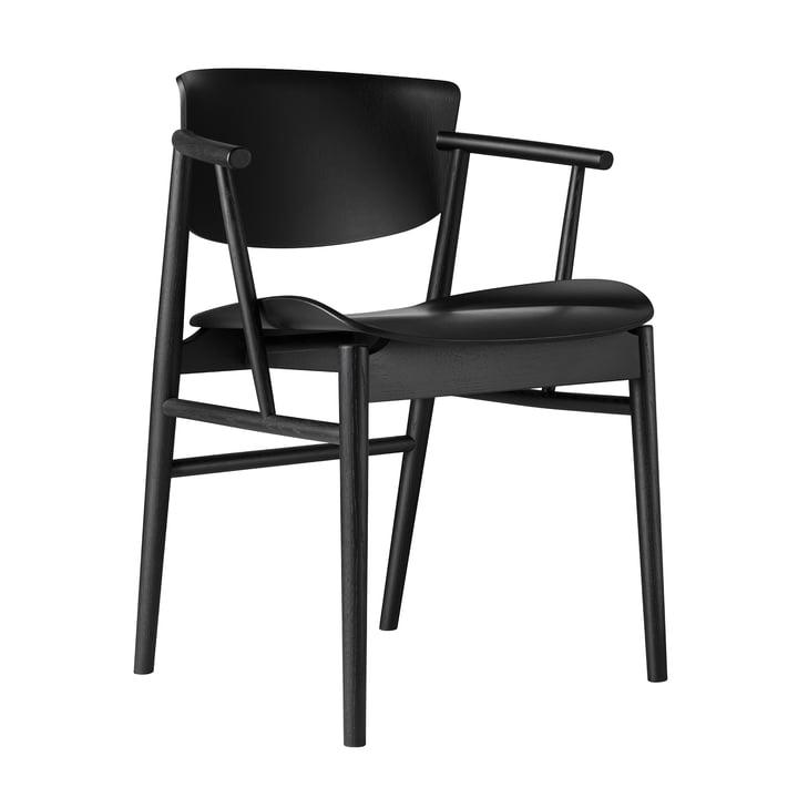 Der Fritz Hansen - N01 Armlehnstuhl in Eiche schwarz gefärbt