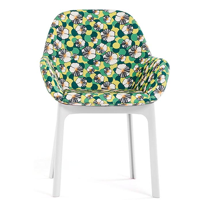 Clap Stuhl 4182 von Kartell in Weiß / ninfea