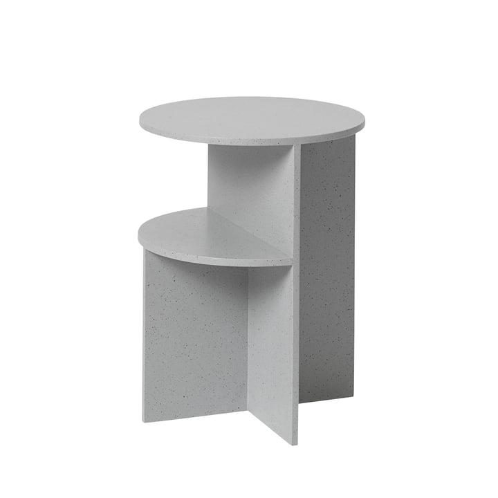 Halves Beistelltisch Ø 35,5 cm von Muuto in Grau