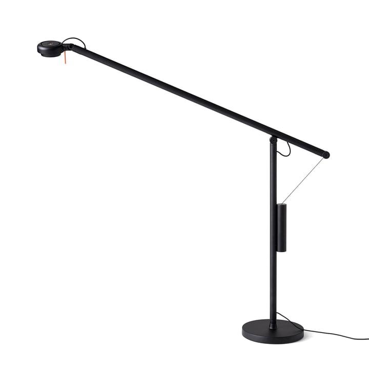 Fifty-Fifty LED Tischleuchte mit Fuß von Hay in Signalschwarz (RAL 9004)